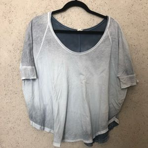 Blue Fade Free People Wide Shirt